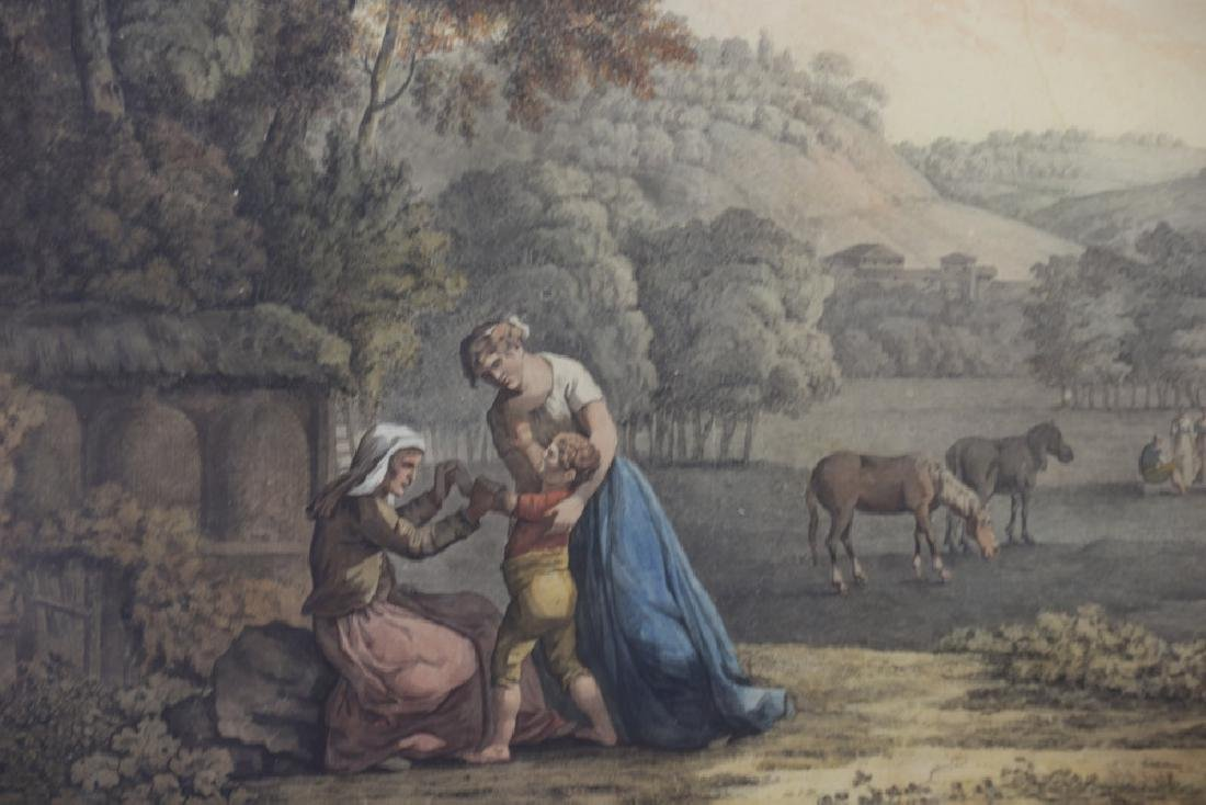 18thC Italian Landscape with Figures, Watercolor - 4