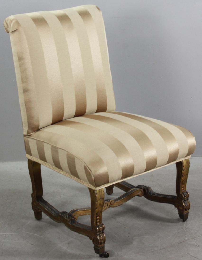 18th/19thC French Empire Style Slipper Chair - 6