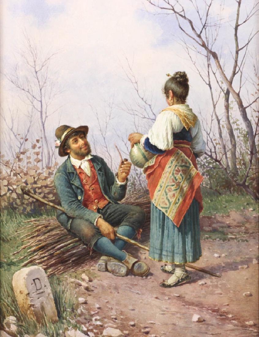 A. De Dominici, Italian School Watercolor - 2
