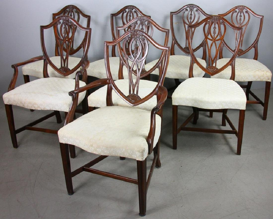 Set of (8) Federal Style Mahogany Chairs