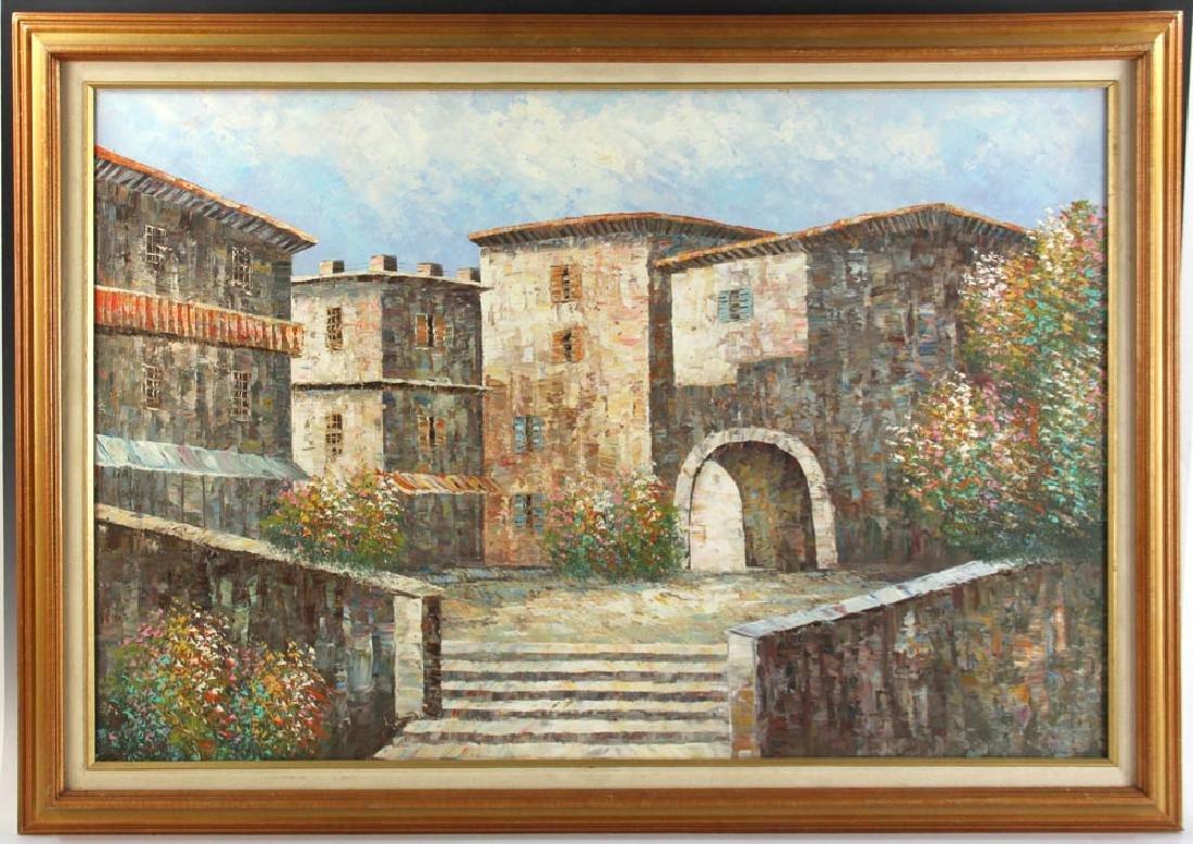 Cortazzo Mediterranean Scene Oil on Canvas