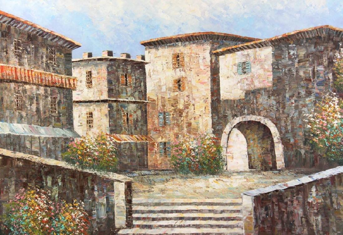 Cortazzo Mediterranean Scene Oil on Canvas - 2