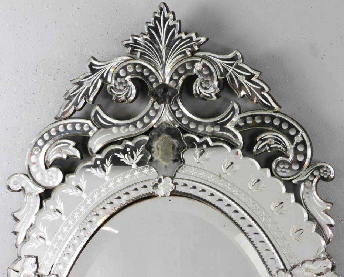 Venetian Glass Mirror with Beveled Panel - 4
