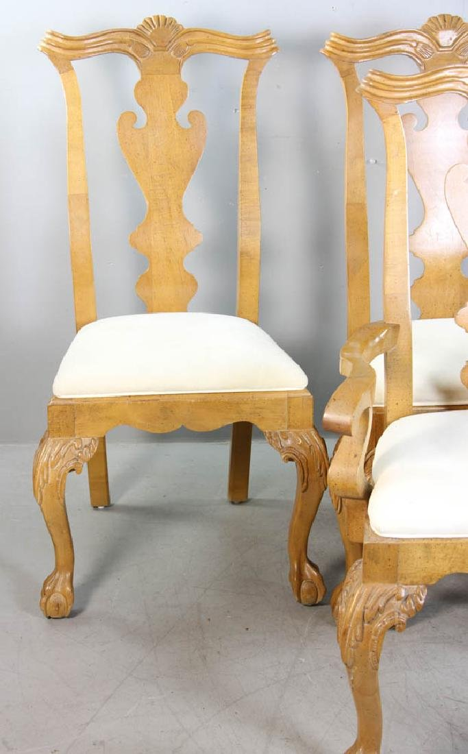 Set of (4) Chippendale Style Dining Chairs - 2