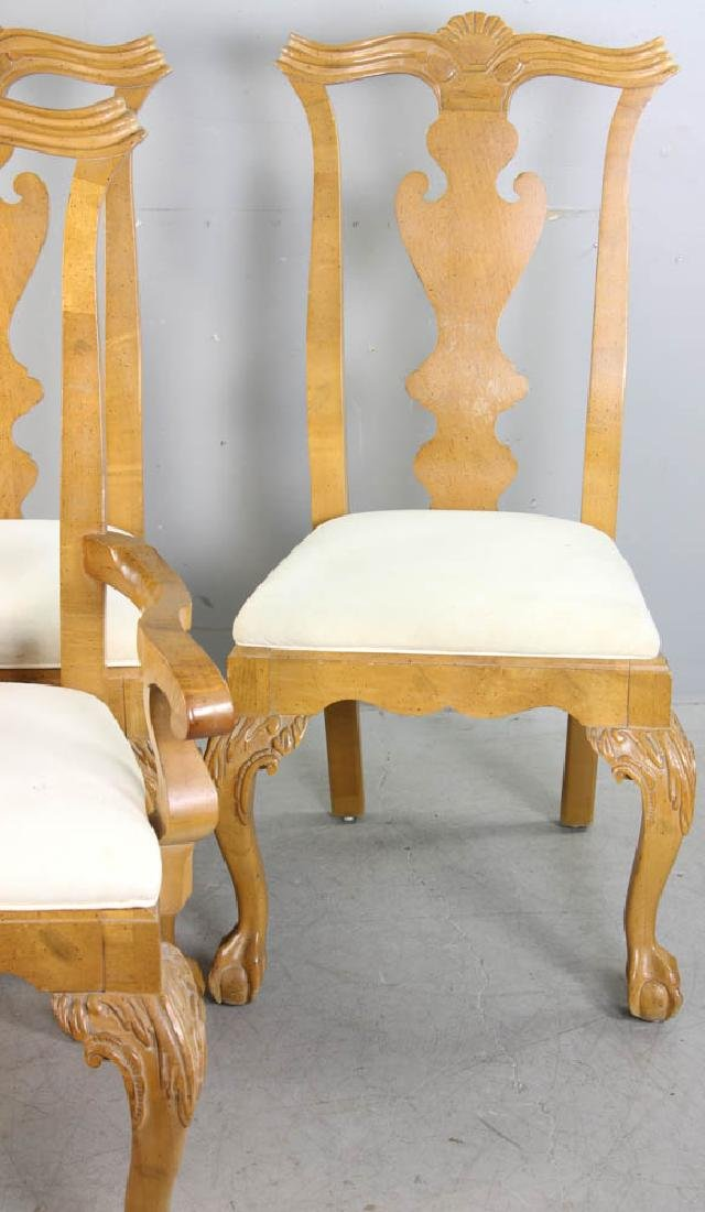 Set of (4) Chippendale Style Dining Chairs - 3