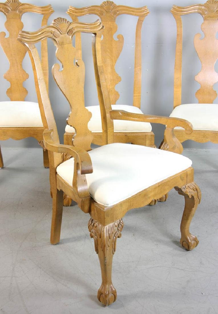 Set of (4) Chippendale Style Dining Chairs - 4
