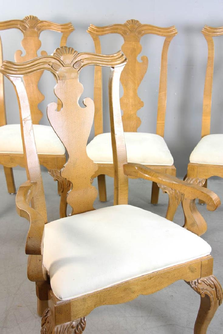 Set of (4) Chippendale Style Dining Chairs - 7