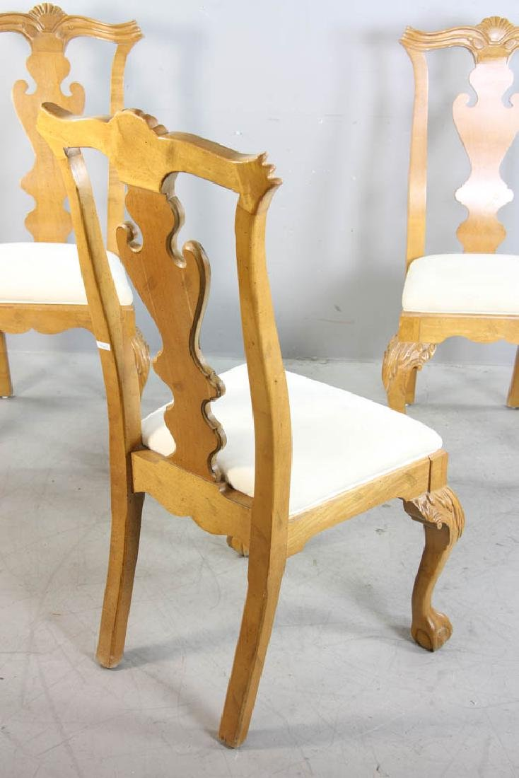 Set of (4) Chippendale Style Dining Chairs - 8