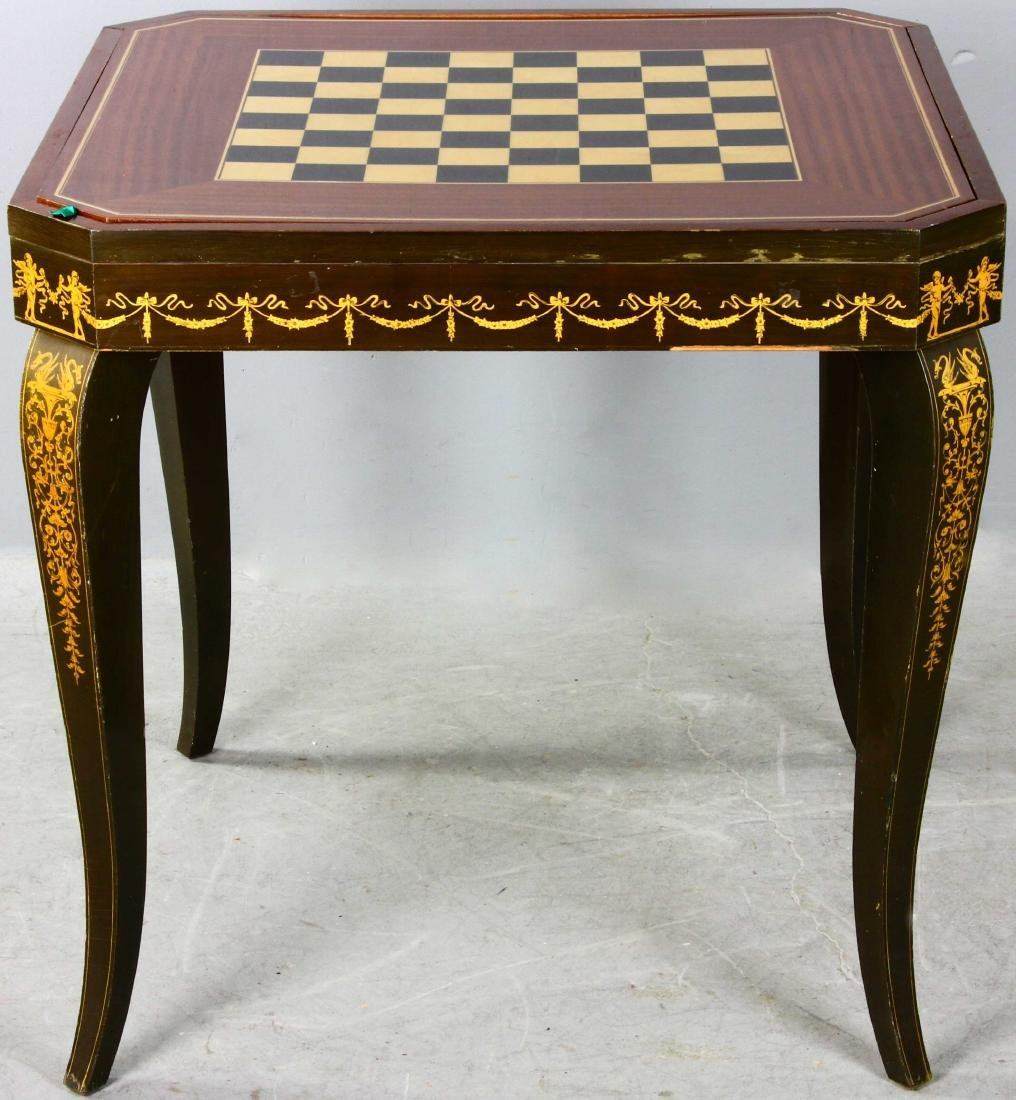 20thC French Style Games Table