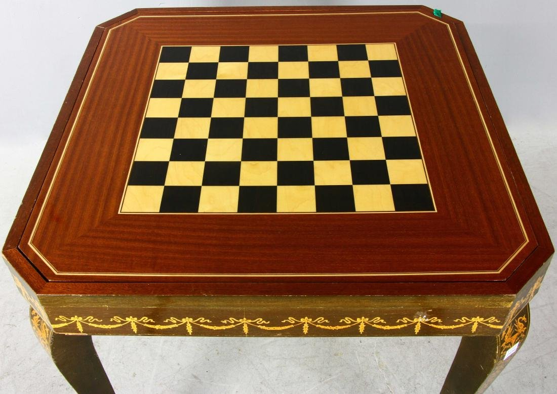 20thC French Style Games Table - 2