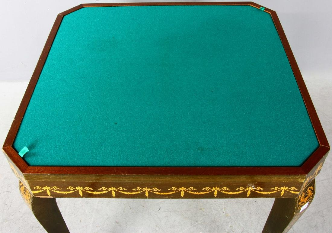 20thC French Style Games Table - 3