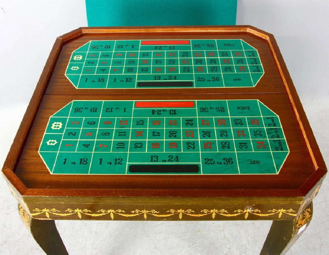20thC French Style Games Table - 4