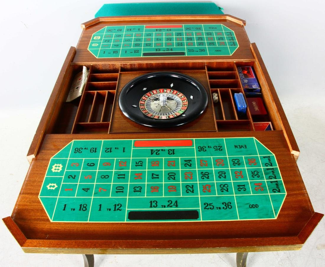 20thC French Style Games Table - 6