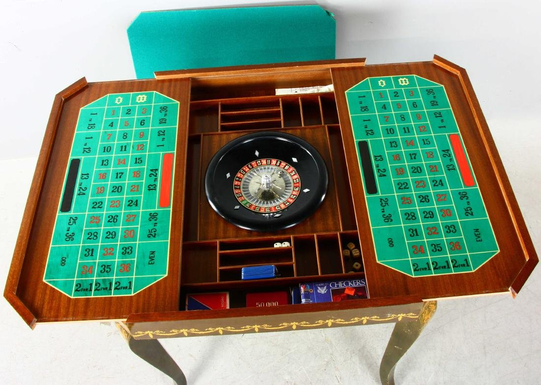 20thC French Style Games Table - 7