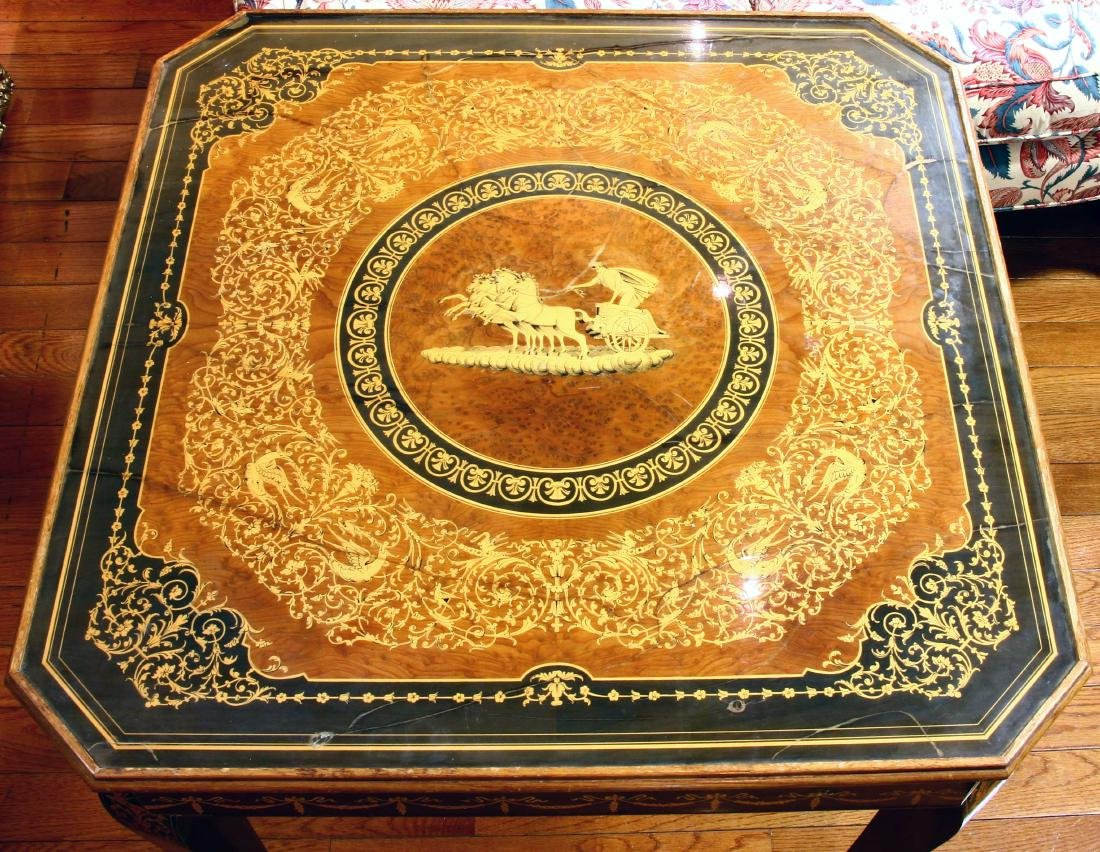20thC French Style Games Table - 8