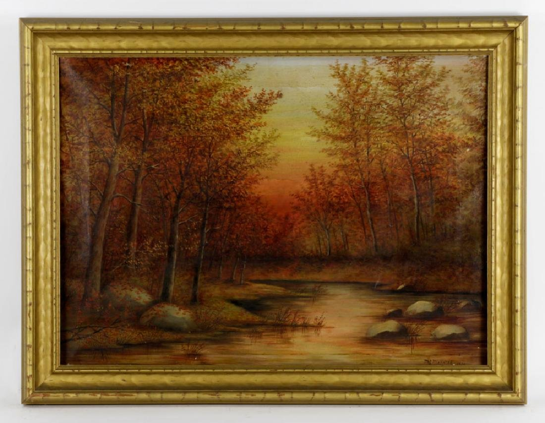 Meniomarch, Autumn Landscape, Oil on Canvas