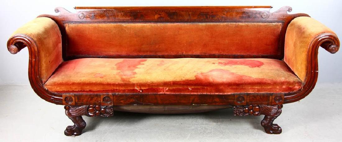 Antique Classical Empire Mahogany Sofa