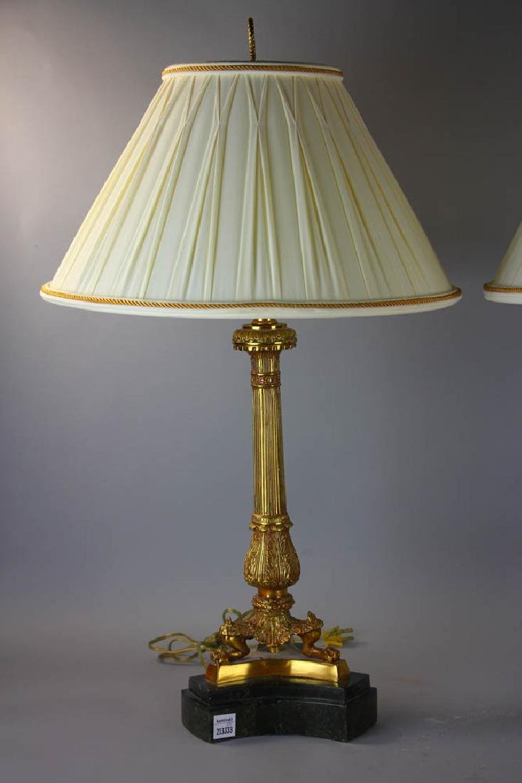 Pair of Maitland Smith Brass Lamps - 2