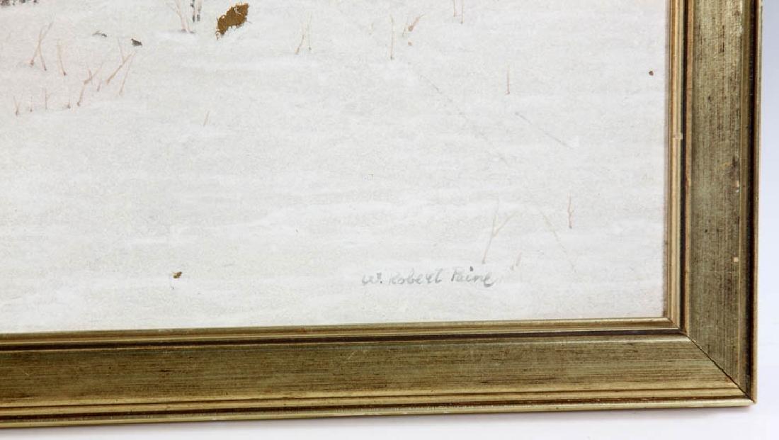 W. Robert Paine Oil on Board Farm Scene - 3