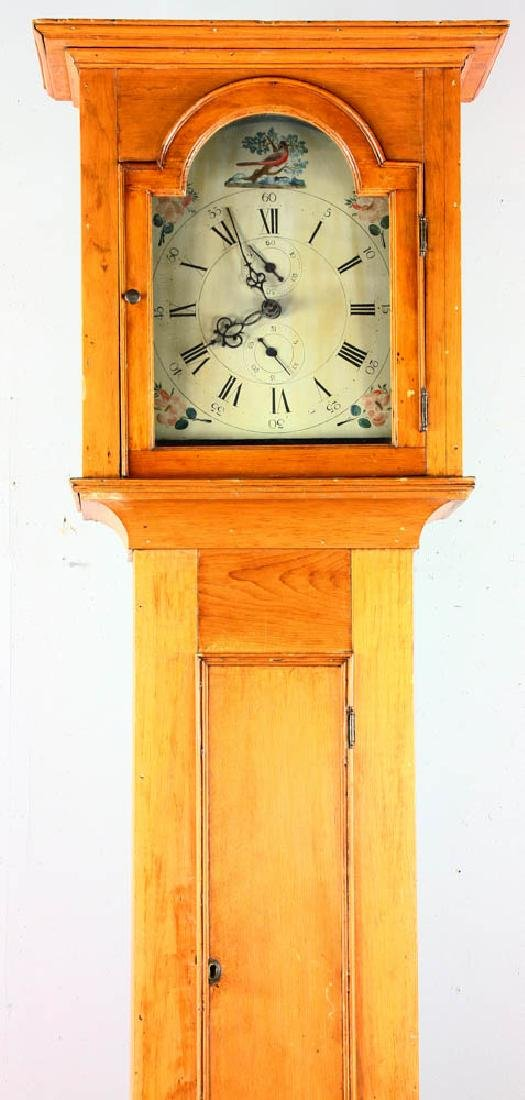 Antique Grandfather Clock with Painted Dial - 2