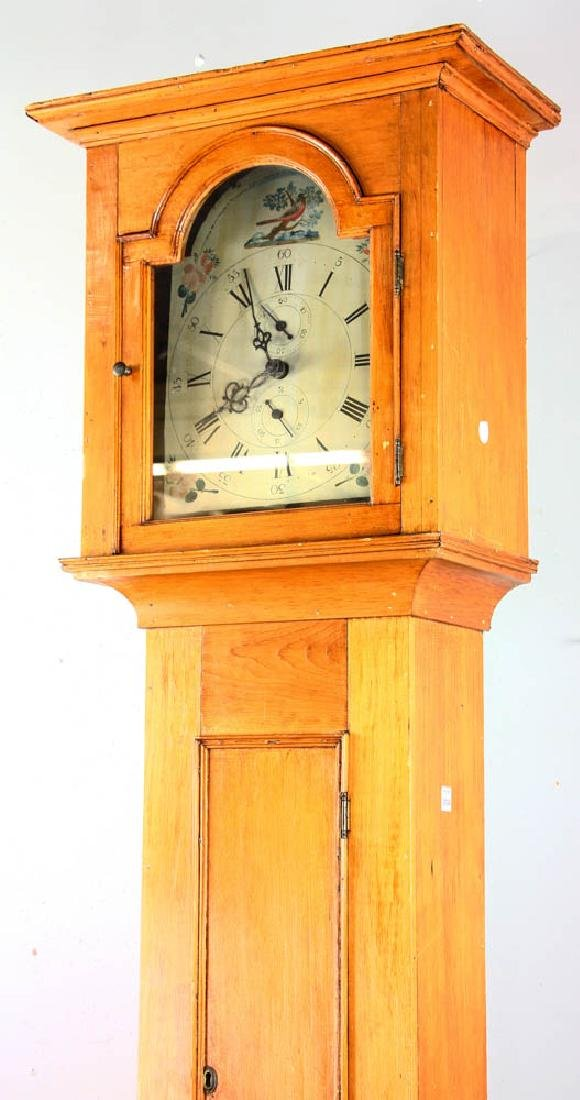 Antique Grandfather Clock with Painted Dial - 4