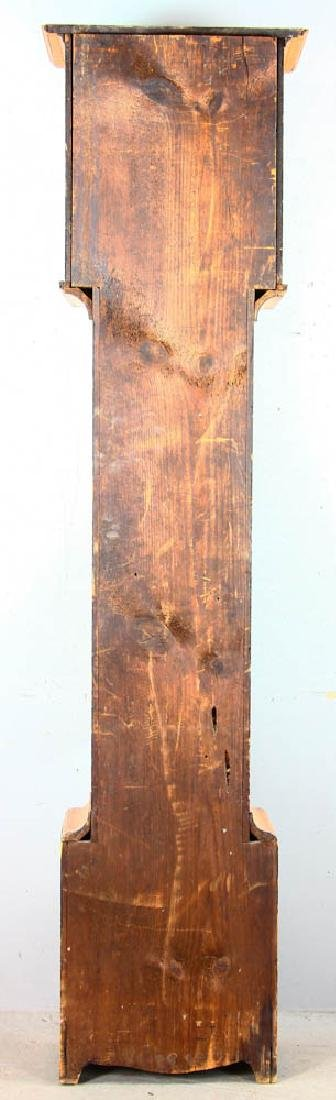 Antique Grandfather Clock with Painted Dial - 5
