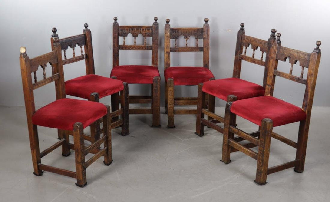 Set of Six Spanish Style Chairs