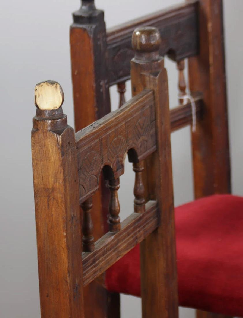 Set of Six Spanish Style Chairs - 2