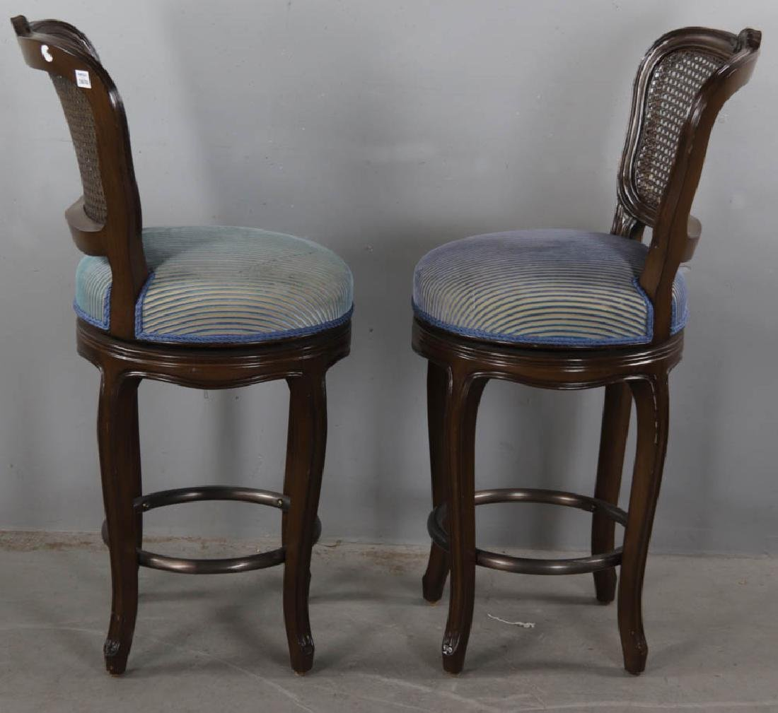 Pair of Upholstered Stools - 4