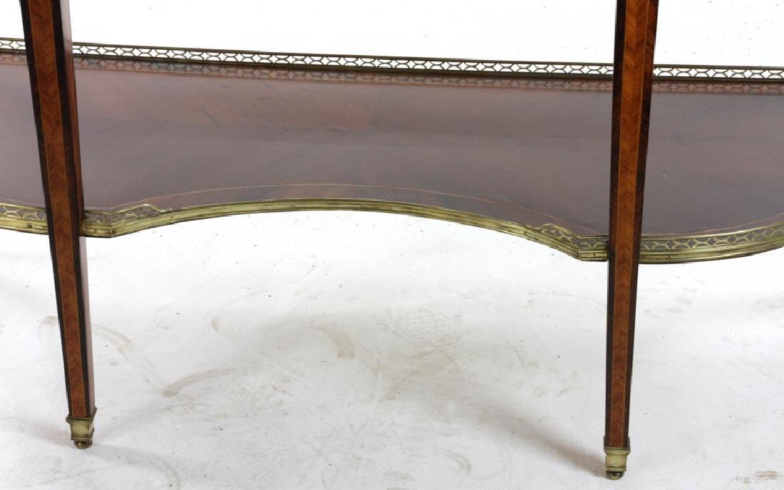 Louis XVI Style Marble Top Console Table - 3