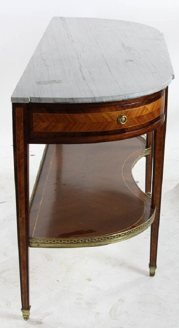Louis XVI Style Marble Top Console Table - 6