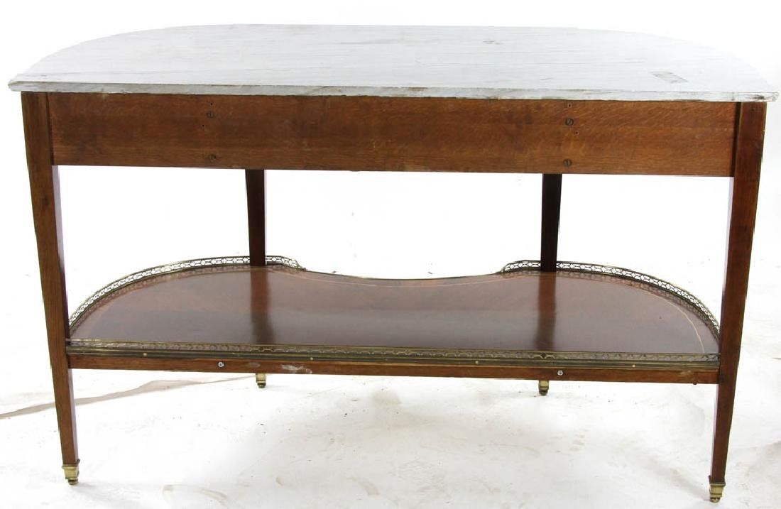 Louis XVI Style Marble Top Console Table - 7