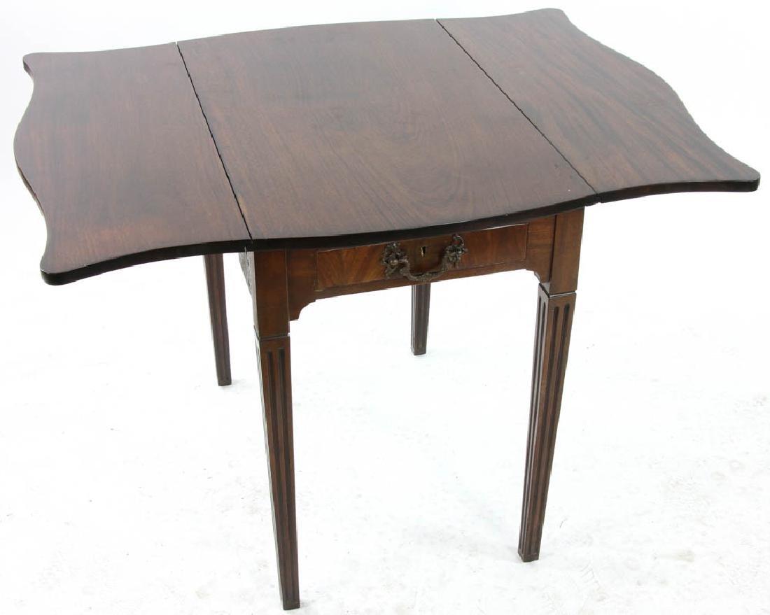 George III Style Mahogany Pembroke Table - 2