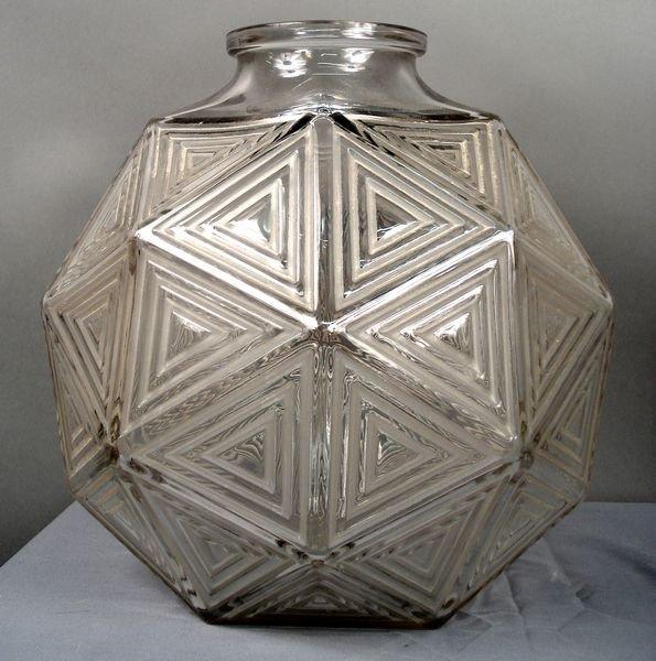 8: 20th C. Sgnd R. Lalique Glass Vase