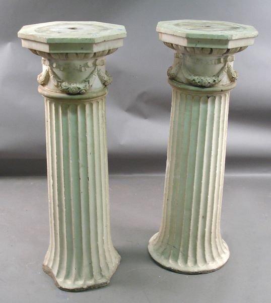 17A: Pr. 19th C. Italian Caffa Marble Columns