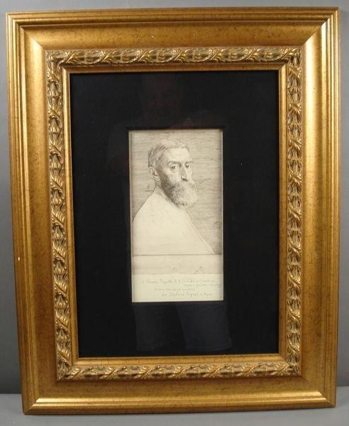 """162: Alphonse LeGros, """"Engraving of Gentleman"""""""