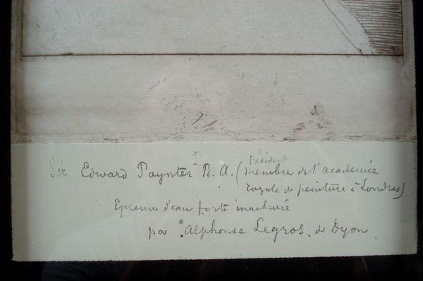 """162: Alphonse LeGros, """"Engraving of Gentleman"""" - 3"""