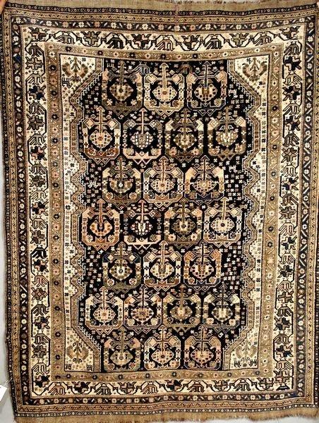 "10: 19th C. Persian Shiraz, 4' 7"" x 6'"