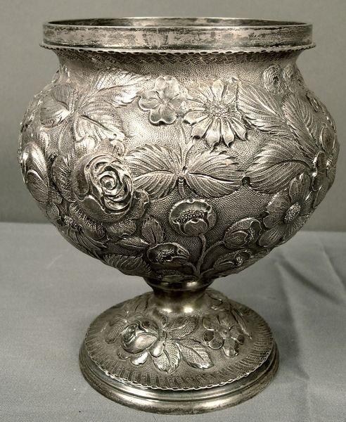 3: 19th C. Repossee Silver Bowl Sgnd.