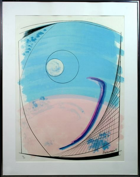"1001: Barbara Hepworth, ""Winter Solstice"", Sgnd."
