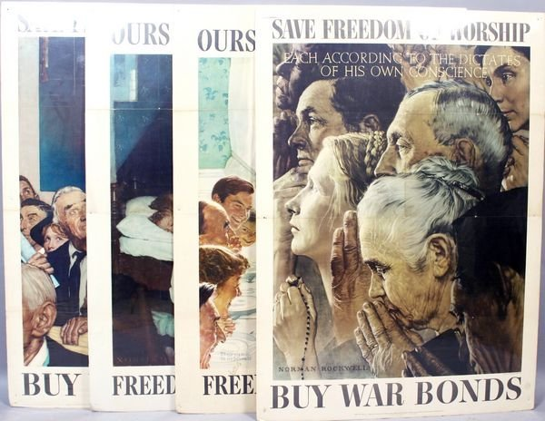 "1002: Norman Rockwell, ""The Four Freedoms""."