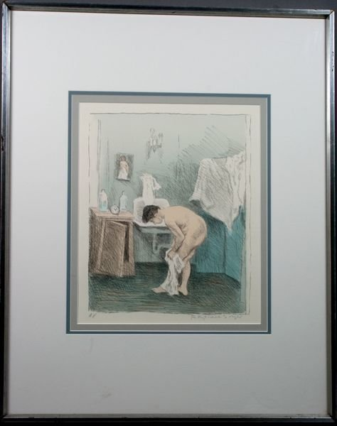 "1008: Raphael Soyer, ""After the Bath"", Sgnd., Label"