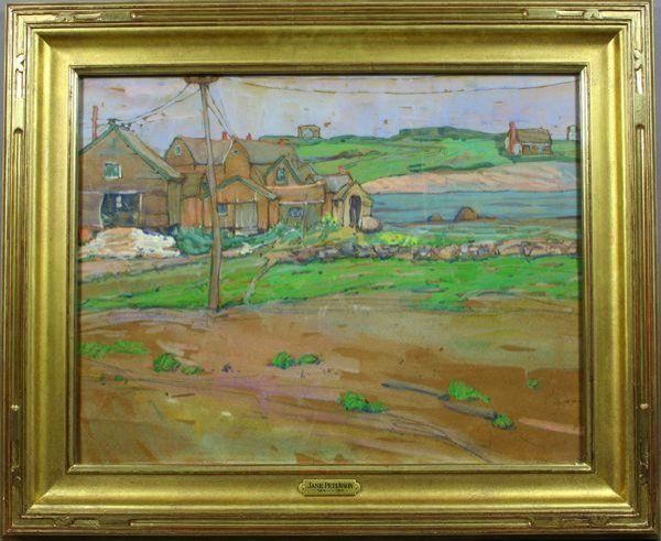 1040: Jane Peterson, A North Shore Landscape, W/C