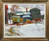 1044: Charles Movalli, Farmhouse in a Vermont...O/C
