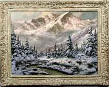 1056 Laszlo Neogrady A Mountain Landscape Sgnd