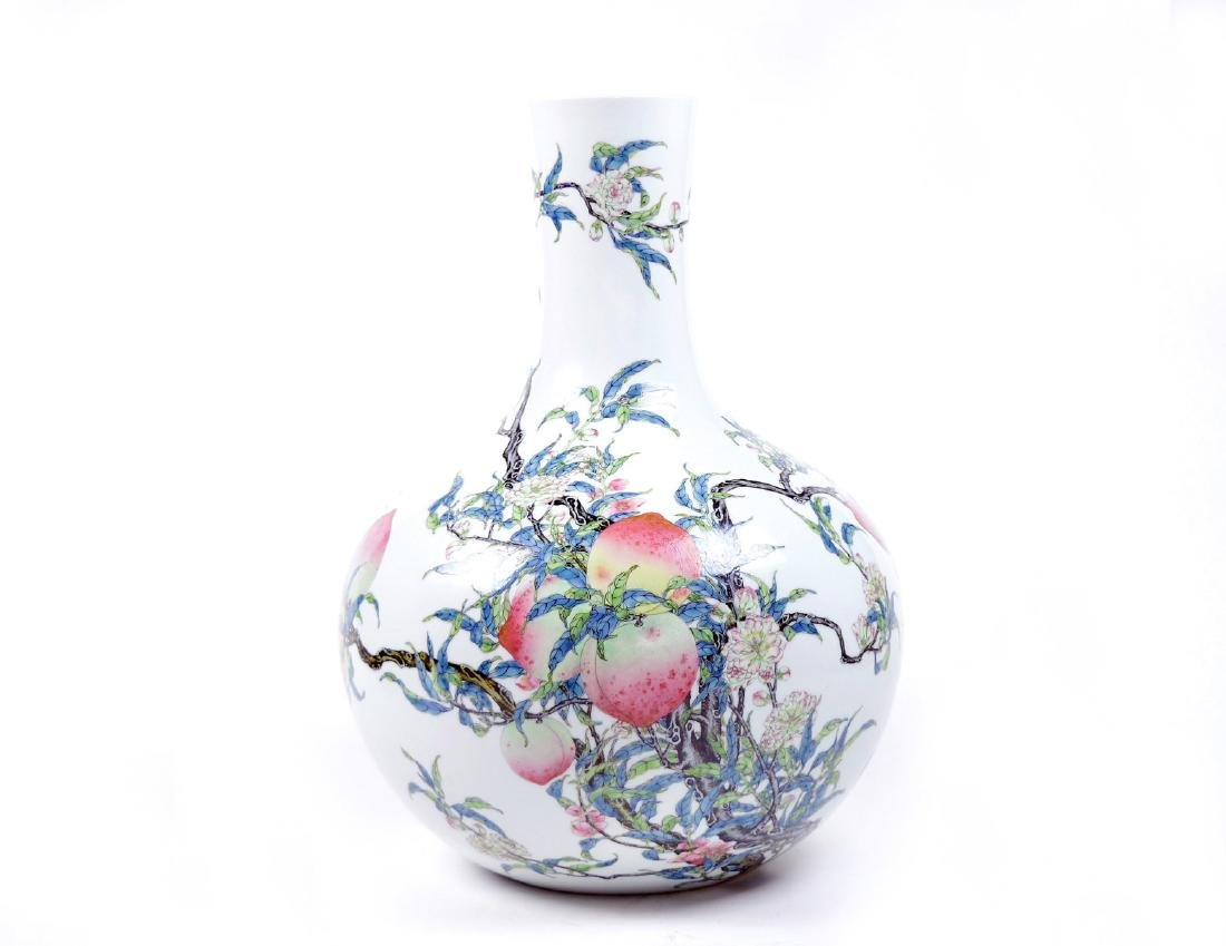 Extremely Exquisite Chinese Nine-Peach Vase