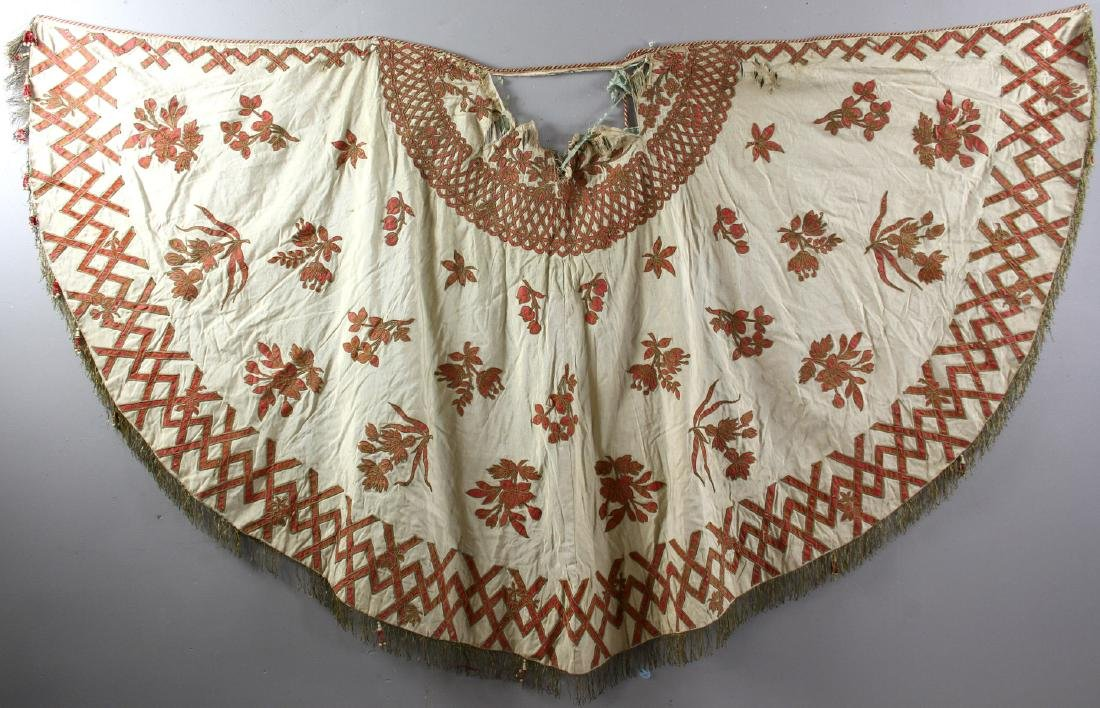 19th/20thC Middle Eastern Embroidery Cloak