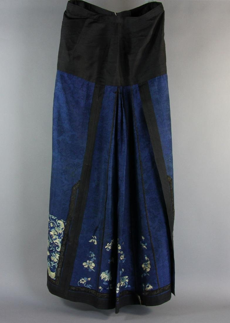 Chinese Blue Embroidered Skirt