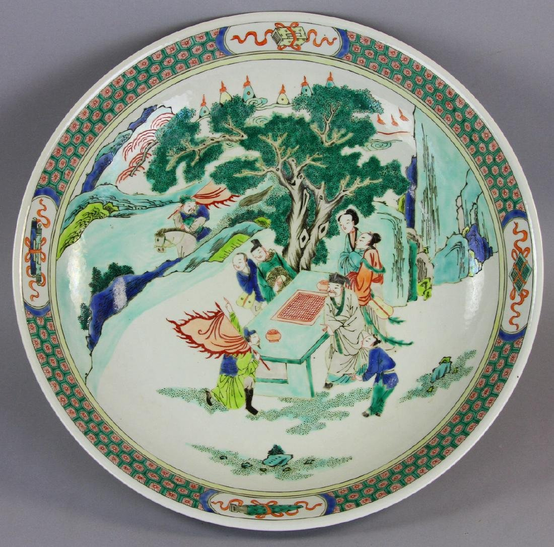 Chinese Famille Verte Kangxi Style Charger