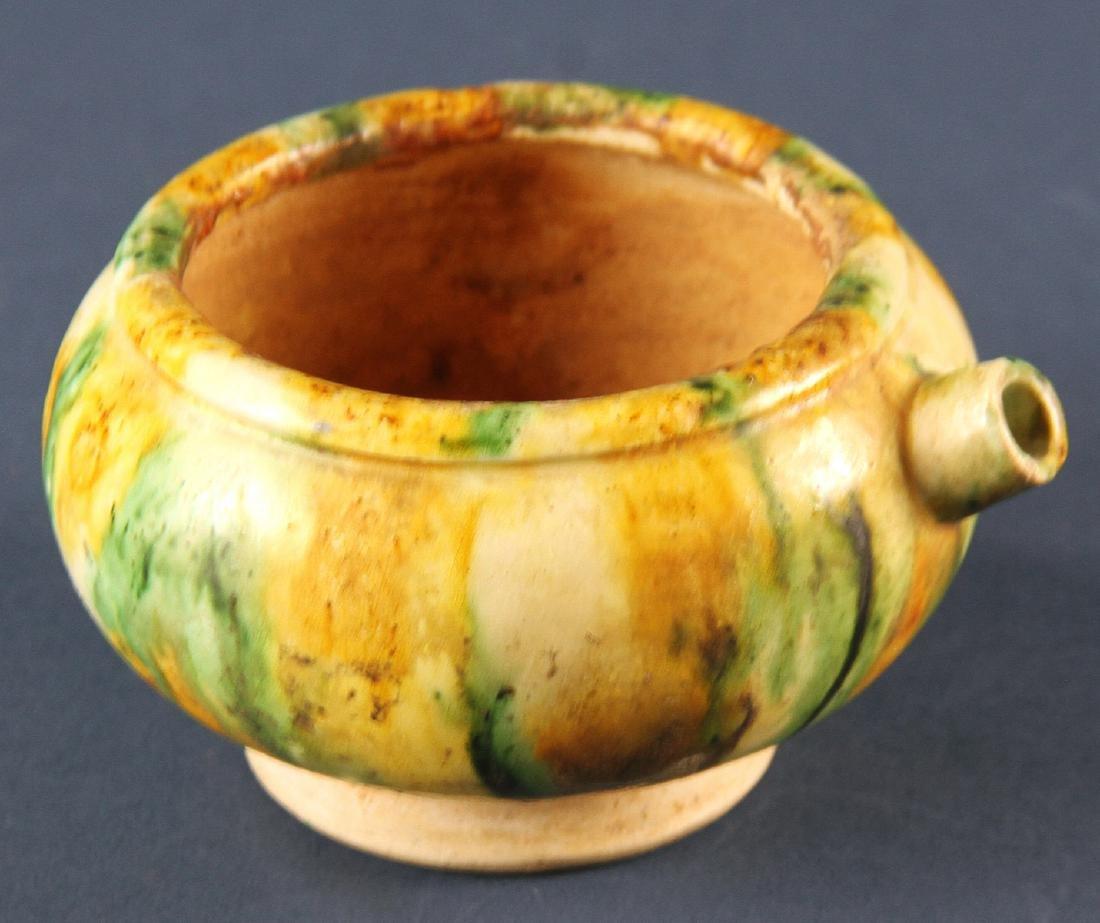 Chinese Tang Sancai Style Pottery Teapot
